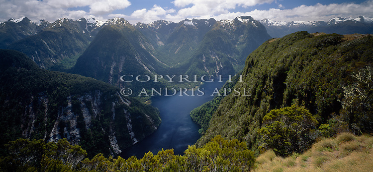 Hall Arm of Doubtful Sound. Fiordland National Park. New Zealand.