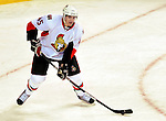 17 October 2009: Ottawa Senators' defenseman Alexandre Picard in first period action against the Montreal Canadiens at the Bell Centre in Montreal, Quebec, Canada. The Senators defeated the Canadiens 3-1. Mandatory Credit: Ed Wolfstein Photo