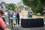 Ohio University President Roderick McDavis speaks at the opening of Bobcat Lane. Photo by Ben Siegel