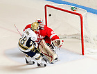 Jan. 28, 2011; T.J. Tynan scores during a shootout...Photo by Matt Cashore/University of Notre Dame