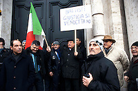 Roma, 4 Gennaio 2011.Sit-in dei partiti contro la decisione  del Brasile di non concedere l'estradizione all'ex terrorista dei Pac (Proletari Armati per il Comunismo)  Cesare Battisti condannato a quattro ergastoli per omicidio. Domenico Gramazio del PdL.Rome, January 4, 2011.Sit-in  of the Political parties, in front of the Embassy of Brazil in Piazza Navona, for the decision of Brazil, not to grant the extradition of former terrorist Pac (Armed Proletarians for Communism), Cesare Battisti was sentenced to four life sentences for murder.
