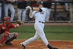 Ole Miss' Matt Snyder (33) bats vs. Georgia in a college baseball action at Oxford-University Stadium in Oxford, Miss. on Friday, April 8, 2011. Georgia won 9-8.