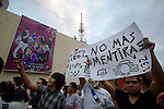 Thousands of students stage a protest against the majority of the media in front of Televisa television network building, May 23, 2012. The students claim for  an equitative information on the electoral campaigns news, instead of supporting to one of the candidates as they do for now. Photo by Heriberto Rodriguez