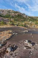Granite rock, western Prince William Sound, Chugach National Forest, Kenai mountains, Alaska.