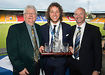 St Johnstone FC Player of the Year Awards...18.05.14<br /> Blue Boys Player of the Year to Stevie May presented by Jimmy Robertson and Steve Bisset.<br /> Picture by Graeme Hart.<br /> Copyright Perthshire Picture Agency<br /> Tel: 01738 623350  Mobile: 07990 594431