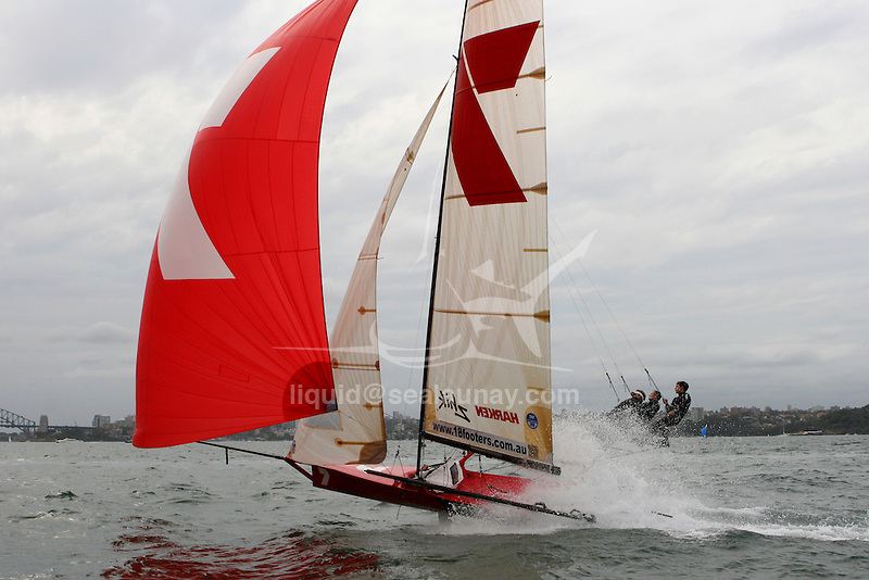 18 Ft Skiff Mick Scully Trophy 2008 in the Sydney Harbour.