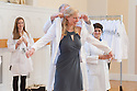 John Brumsted, M.D., left, Leah Fox. Class of 2016 White Coat Ceremony.