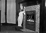 Wilkinsburg PA:  Helen Stewart hanging a Christmas Stocking - 1918