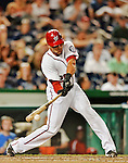15 June 2012: Washington Nationals shortstop Ian Desmond in action against the New York Yankees at Nationals Park in Washington, DC. The Yankees defeated the Nationals 7-2 in the first game of their 3-game series. Mandatory Credit: Ed Wolfstein Photo