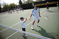 Dan Bloxham, Head Coach, during a Junior Tennis Initiative training session at Wimbledon, The All England Lawn Tennis Club (AELTC), London...
