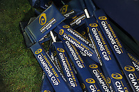 A general view of European Rugby Champions Cup branded corner flags. European Rugby Champions Cup match, between Bath Rugby and Leinster Rugby on November 21, 2015 at the Recreation Ground in Bath, England. Photo by: Patrick Khachfe / Onside Images