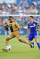 Amobi Okugo #14, Davy Arnaud...Kansas City Wizards defeated Philadelphia Union 2-0, at Community America Ballpark, Kansas City, Kansas.