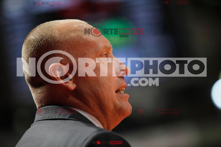 BC Khimki MR's coach Rimas Kurtinaitis during Euroleague 2012/2013 match.November 23,2012. (ALTERPHOTOS/Acero) /NortePhoto