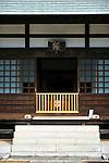Hokokuji, Jomyoji and Tsurugaoka Hachimangu, Kamakura, Japan on 24 Jan. 2012. Photographer: Robert GilhoolyPhoto shows  the entrance to the main hall at  Jomyoji temple in Kamakura, Japan on 24 Jan. 2012. Photographer: Robert Gilhooly