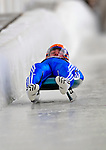 7 February 2009:  Albert Demtschenko slides for Russia in the Men's Competition at the 41st FIL Luge World Championships, in Lake Placid, New York, USA. .  .Mandatory Photo Credit: Ed Wolfstein Photo