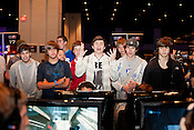 August 29, 2010. Raleigh, North Carolina.. A fan reacts to a Halo 3 game.. Major League Gaming (MLG), the league for professional videogame players, held their 50th Pro Circuit competition at the Raleigh Convention Center, with gamers from all over the country coming to for 3 days of competition in Halo 3, Tekken 6, Super Smash Bros. Brawl, Starcraft 2 and World of Warcraft.