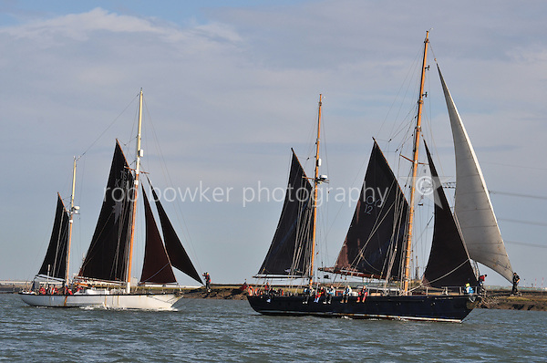 Arrival of new boat GMC (Ian Cheek, skipper) and Morning Star of Revelation with Morning Star Trust in the Medway and on to Chatham Historic Dockyard, Kent. Photos taken from Dayspring.