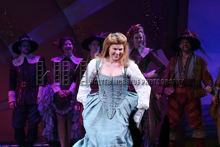 Heidi Blickenstaff  during the Broadway Opening Night Curtain Call for 'Something Rotten' at the St. James Theatre on April 22, 2015 in New York City.