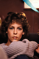 "Actress Jamie Lee Curtis at home. (November 22, 1958) She is an American actress and author, and is the daughter of actor Tony Curtis and actress Janet Leigh. Initially Jamie Lee Curtis was known as a ""scream queen"" because of her continuous role in horror films, however now, she is best known for her role in 1983 film Trading Places, where she won a BAFTA and 1994 film True Lies, where she won a Golden Globe Award for Best Actress."