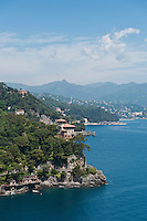 Scenic coastal view from Portofino, Liguria, Italy