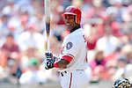 11 April 2006: Alfonso Soriano, left fielder for the Washington Nationals, at bat during the Nationals' Home Opener against the New York Mets in Washington, DC. The Mets defeated the Nationals 7-1 to start the 2006 season at RFK Stadium...Mandatory Photo Credit: Ed Wolfstein Photo..