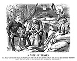 """A Vote of Thanks. F.-M. Punch. """"Lieutenants Chard and Bromhead, in the name of your country I thank you and all the defenders of Rorke's Drift. You have saved not only a colony, but the credit of Old England!!"""""""