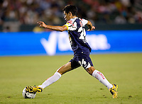 Pachuca FC midfielder Raul Martinez (24)  redirects with ball. USA Chivas USA defeated Pachuca FC 1-0 during 2010 SuperLiga group play at Home Depot Center stadium in Carson, California Wednesday July 21, 2010.
