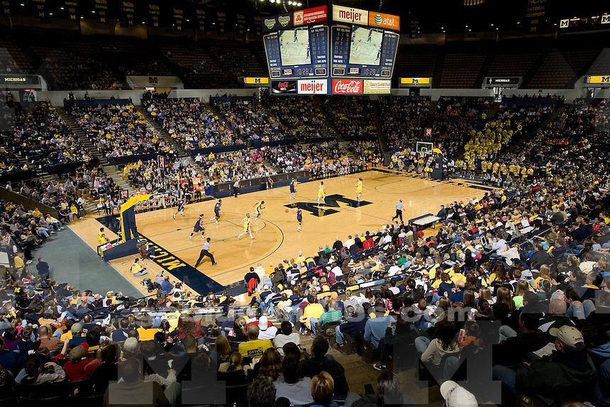 University of Michigan basketball (women) 66-62 victory over Penn State at Crisler Arena on 1/31/10.