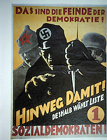 "Technology: Weimar Culture--SPD Poster, 1932? ""These are the enemies of democracy."""