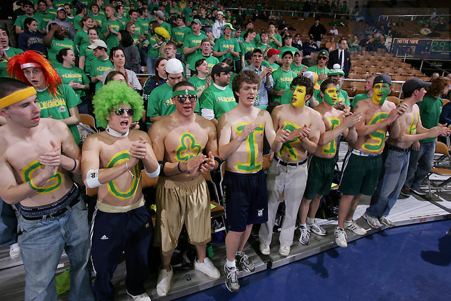 Basketball fans, ND vs. BC, Feb. 2005.