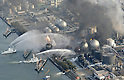 Fires at the Combinart Gas Plant, Ichihara, Chiba Prefecture. A huge M8.9 earthquake hit Japan on Friday 11th March, 2011 followed by a giant tsunami causing death and destruction