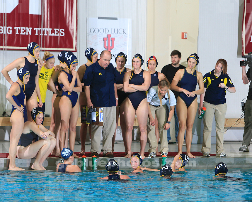 University of Michigan women's water polo 11-6 victory over Maryland in the semifinals of the CWPA Eastern Championships in West Lafayette, IN, on April 30, 2011.