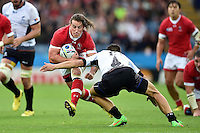 Jeff Hassler of Canada takes on the Romania defence. Rugby World Cup Pool D match between Canada and Romania on October 6, 2015 at Leicester City Stadium in Leicester, England. Photo by: Patrick Khachfe / Onside Images