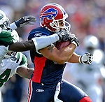 30 September 2007: Buffalo Bills wide receiver Josh Reed in action against the New York Jets at Ralph Wilson Stadium in Orchard Park, NY. The Bills defeated the Jets 17-14 for their first win of the 2007 season...Mandatory Photo Credit: Ed Wolfstein Photo