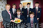 Geraldine Tangney serving the St Brendan's College students  front Alan Harte and Colm Cagney. Back Callum Myers, Shane Looney, Thomas McCluskey and Fergal Murphy at the St Brendan's College Chinese New Year celebrations in the Gleneagle Hotel on Tuesday night
