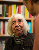 Hilda Sims, ex-Summerhillian, at the event to discuss Leila Berg's contribution to radical education and children's lives, Houseman's bookshop, London, 22nd May 2013.