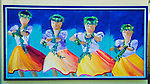 Hula dancers mural, Kailua-Kona, The Big Island, Hawaii USA