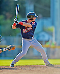 30 June 2012: Lowell Spinners outfielder Zach Kapstein in action against the Vermont Lake Monsters at Centennial Field in Burlington, Vermont. Mandatory Credit: Ed Wolfstein Photo