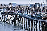 The small harbour of Carrasqueira is a jumble of rickety wooden jetties