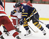 Yuri Bouharevich (Quinnipiac - 13) - The visiting Quinnipiac University Bobcats defeated the Harvard University Crimson 3-1 on Wednesday, December 8, 2010, at Bright Hockey Center in Cambridge, Massachusetts.