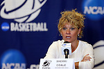 21 March 2014: Oklahoma head coach Sherri Coale. The University of Oklahoma Sooners held a training session the day before playing in an NCAA Division I Women's Basketball Tournament First Round game at Cameron Indoor Stadium in Durham, North Carolina.