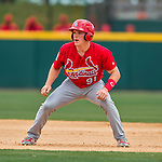 13 March 2016: St. Louis Cardinals outfielder Harrison Bader, ranked the 10th Top Prospect in the Cardinals organization for 2016 by MLB, in action during a pre-season Spring Training game against the Washington Nationals at Space Coast Stadium in Viera, Florida. The teams played to a 4-4 draw in Grapefruit League play. Mandatory Credit: Ed Wolfstein Photo *** RAW (NEF) Image File Available ***