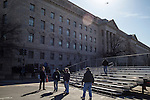 Workers set up seating for viewers of the Inaugural Parade on Sunday, January 20, 2013 in Washington, DC.