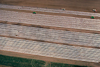 Aerial view of plastic mulch on a vegetable farm in upstate New York.
