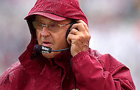 TALLAHASSEE, FL. 10/11/03-FSU Coach Bobby Bowden talks with his coaching staff from the sidelines.during action against Miami Saturday at Doak Campbell Stadium in Tallahassee. COLIN HACKLEY PHOTO