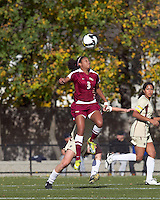 Florida State midfielder Casey Short (3) heads the ball. Florida State University defeated Boston College, 1-0, at Newton Soccer Field, Newton, MA on October 31, 2010.