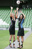 NO REPRO FEE. 8/9/2010. Bóthar launching Rugby Rocks Fashion. Ms Limerick, Valerie Somers and Ms Clare, Alice Carroll are pictured at the the Aviva Stadium, Lansdowne Road, Dublin to launch Bóthar's Rugby Rocks Fashion.This is the first fashion event to take place at the newly developed stadium. Tickets are EUR60 and discounts are available with multiple purchases. Log onto www.bothar.ie for further information or call 1850 82 99 99.. Picture James Horan/Collins