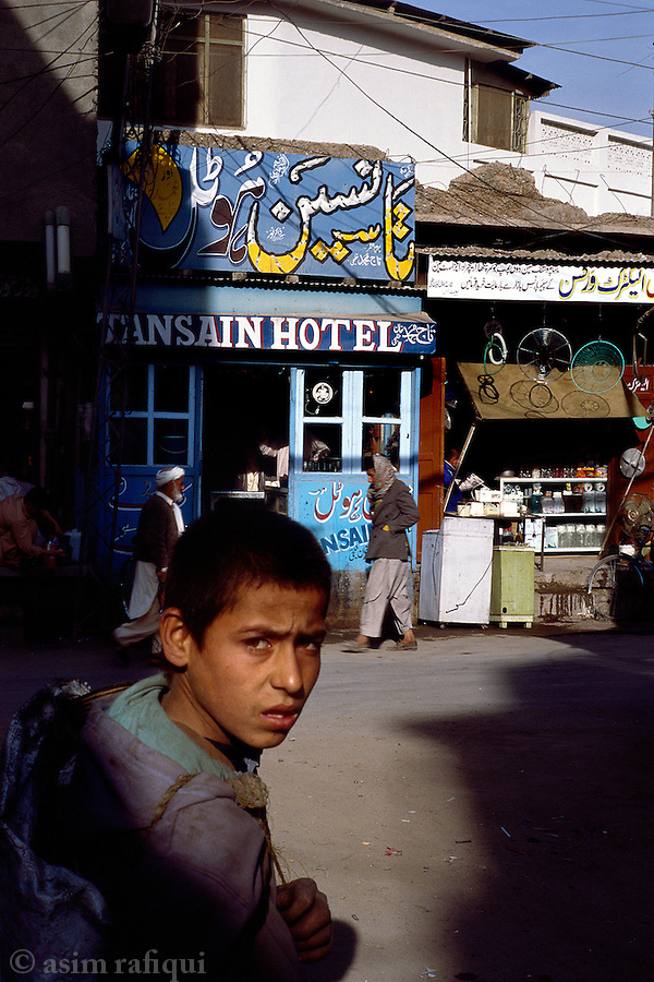 Early morning street scene in the markets of Quetta.