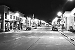 HDR Black and White image today Main Street in Menomonee Falls Wisconsin