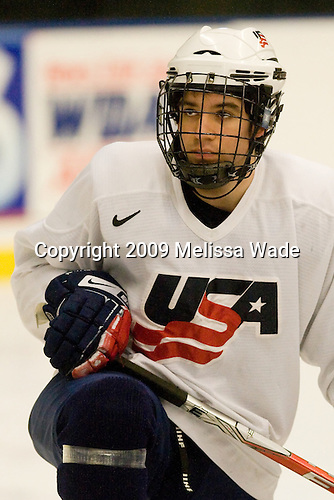 Matthew Nieto (US - 18) - The US practiced the morning of Sunday, April 19, 2009, prior to their gold medal game against Russia in the 2009 World Under 18 Championship at the Urban Plains Center in Fargo, North Dakota.